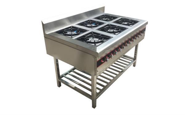 淮扬菜厨房设备商用燃气不锈钢六头煲仔炉