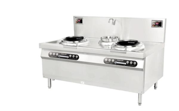 东北菜厨房设备长春双头单尾电磁炒炉
