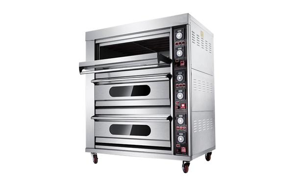昆明厨房设备烘培不锈钢三层六盘电热烤箱